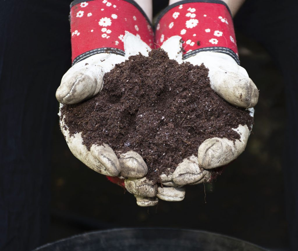 make your own compost to help you garden organically